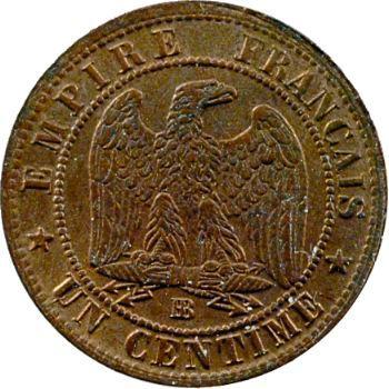 Second Empire, un centime tête laurée, 1861 Strasbourg