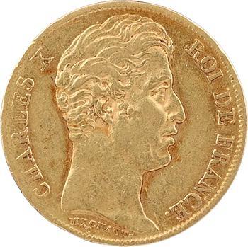 Charles X, 20 francs, 5 feuilles, 1828 Paris