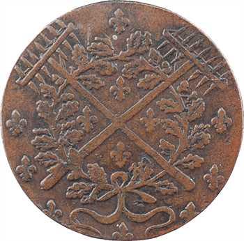 Cour des monnaies, Claude Fauchet, président, partie centrale seule de jeton bimétallique, s.d. (1590-1599) Paris