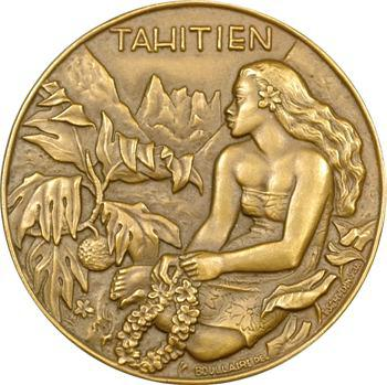 IVe République, médaille des Messageries maritimes, Tahitien, 1953