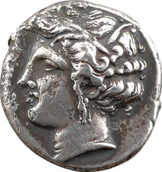 Sicile, Siculo-puniques, Carthaginois en Sicile, tétradrachme, IVe s. av. J.-C.