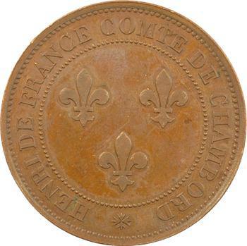 Henri V ou Comte de Chambord, médaille par Tasset, s.d. Paris