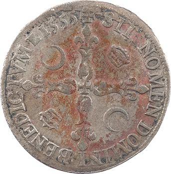 Henri II, douzain du moulin, 1555 Paris