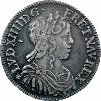 Louis XIV, demi-écu à la mèche longue, 1656 Rennes