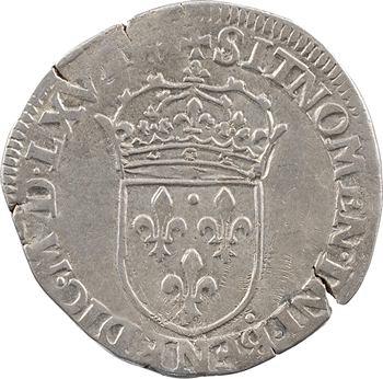 Charles IX, teston 6e type, 156[7 ?] Lyon