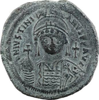 Justinien Ier, follis, Constantinople, 2e officine, An XIII = 539-540