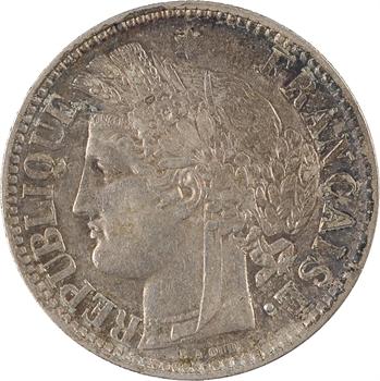 Gvt de Défense nationale, 2 francs Cérès sans légende, 1871 Bordeaux