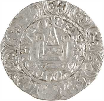 Charles IV, maille blanche, 1re émission