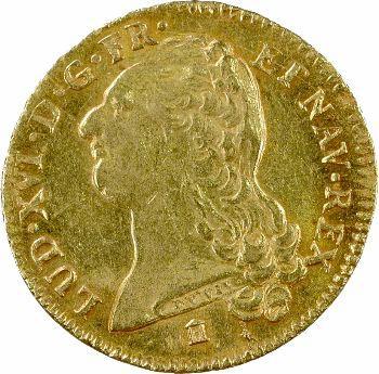 Louis XVI, double louis d'or à la tête nue, 1786 Bordeaux