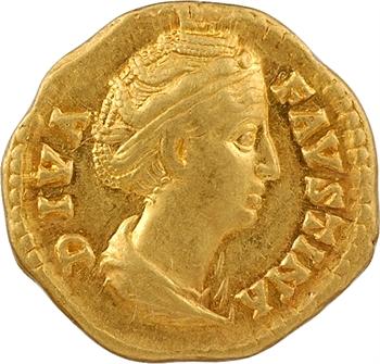 Divine Faustine Mère, aureus, Rome, c.141-146