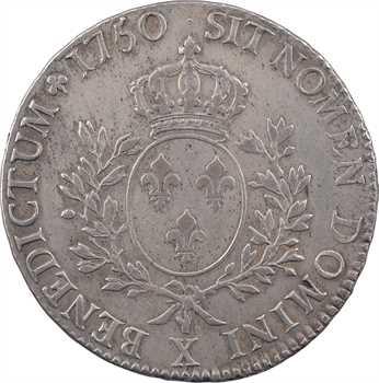Louis XV, écu au bandeau, 1750 Amiens