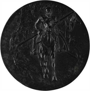 Allemagne, Guillaume de Prusse, évènements de guerre et hommage à la cavalerie, par Guradze et Ball, fonte de fer, 1915 Berlin