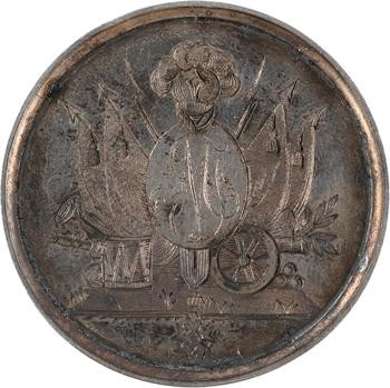 Louis XVIII, médaille de mariage, Mahé de Villeneuve et Céleste Fabre (sœur du Général), 1819