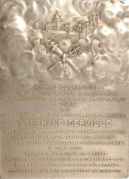 Italie, Turin (Exposition de Turin en 1911), Stéphane Dervillé, commissaire général, par Puech, 1912 Paris