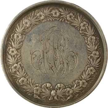 IIIe république, médaille de mariage, par Domard, 1847 (1877) Paris