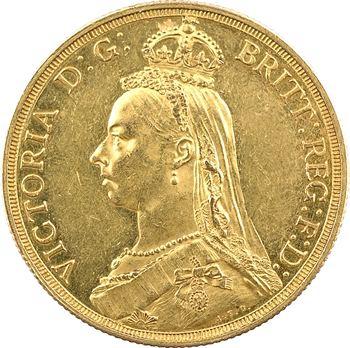 Royaume-Uni, Victoria, 2 livres (pounds), 1887 Londres