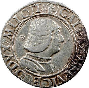 Italie, Milan (duché de), Galéaz-Marie Sforza, teston, Milan