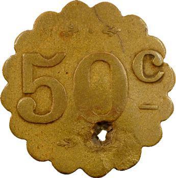 Maroc, Marrakech-Gueliz, 50 centimes, Café de l'Avenue de Marrakech-Gueliz, s.d