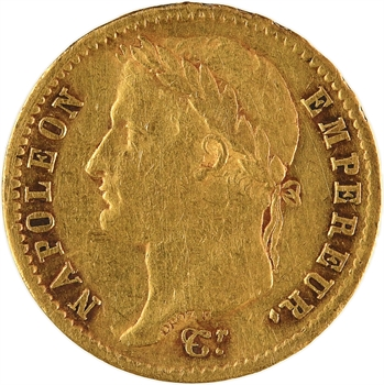 Premier Empire, 20 francs Empire, 1809 Paris