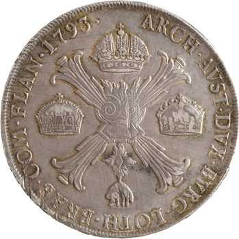 Italie, Lombardie-Vénétie (royaume de), François II, scudo, 1793 Milan