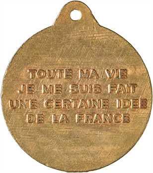 IVe République, hommage au Général de Gaulle, s.d