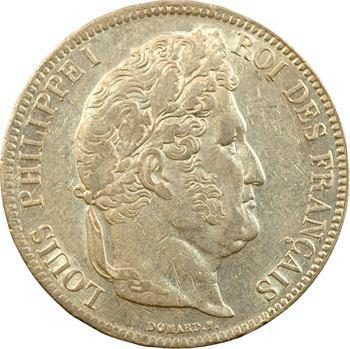 Louis-Philippe Ier, 5 francs IIe type Domard, 1834 Lille