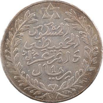 Maroc, Moulay Hafid Ier, 10 dirhams ou 1 rial, 1329 de l'Hégire, Paris