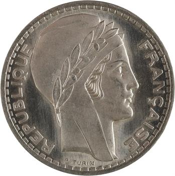 IIIe République, essai de 20 francs Turin en nickel, 1938 Paris PROOFLIKE