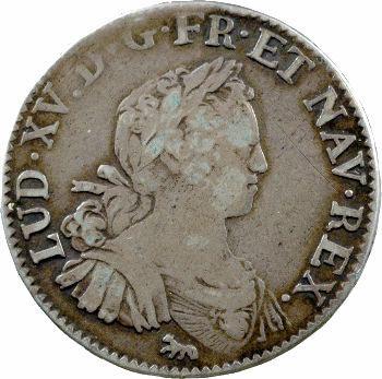 Louis XV, demi-écu aux huit L, 1725 Paris