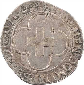 François Ier, douzain à la croisette, (1544-1547) Troyes