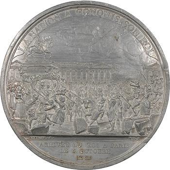 Constitution, arrivée du Roi à Paris, premier état du coin, 1789 Paris