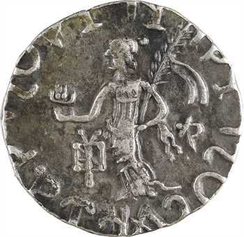 Royaume Indo-Scythe, Azilises, tétradrachme (déesse), c.57-35 av. J.-C. Taxila Sirsukh