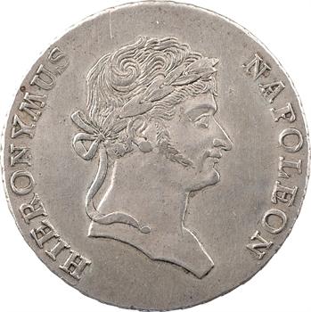 Allemagne, Westphalie (royaume de), Jérôme Napoléon, thaler de convention 3e type, 1812 Cassel
