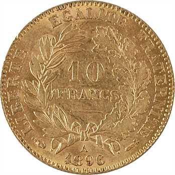 IIIe République, 10 francs Cérès, 1896 Paris