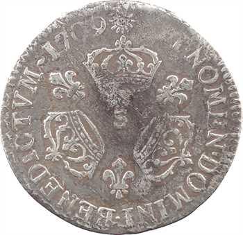 Louis XIV, dixième d'écu aux trois couronnes, 1709 Reims