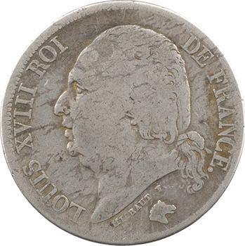 Louis XVIII, 2 francs, 1824 Lille