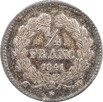 Louis-Philippe Ier, 1/4 franc, 1841 Lille