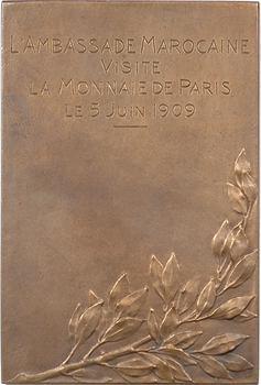 Maroc, visite de l'ambassade marocaine à la Monnaie de Paris, par Vernier, 1909 Paris