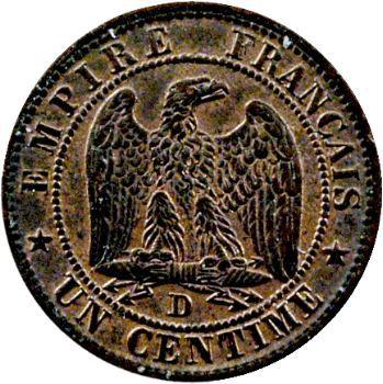 Second Empire, un centime tête nue, 1853 Lyon