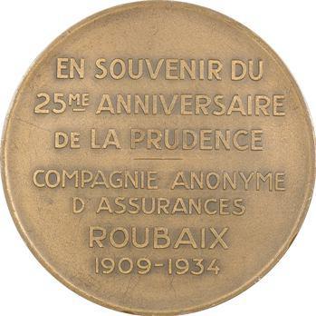 IIIe République, 25e anniversaire des assurances La Prudence, 1934 Roubaix