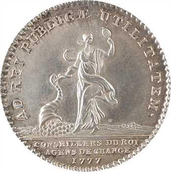 Louis XVI, agents de change conseillers du Roi, par Duvivier, 1777 Paris