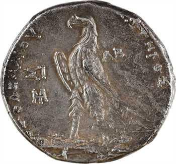 Égypte, Ptolémée II, tétradrachme, Sidon, 254-253 av. J.-C