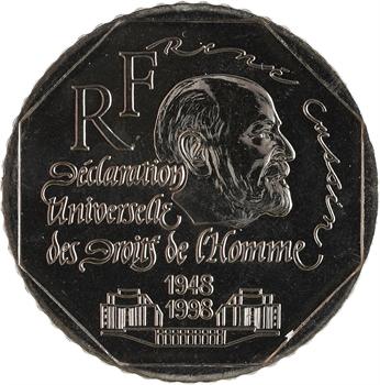 Ve République, essai de 2 francs René Cassin, 1998 Pessac