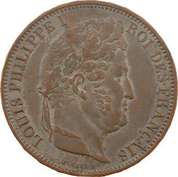 Louis-Philippe Ier, module de 5 francs, visite de la Monnaie de Rouen, 1831