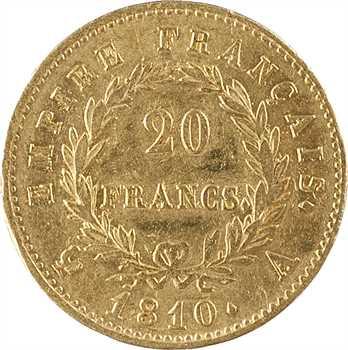 Premier Empire, 20 francs Empire, 1810 Paris