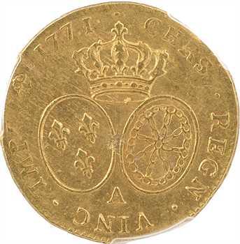 Louis XV, double louis d'or à la vieille tête, 1771 Paris, PCGS AU55