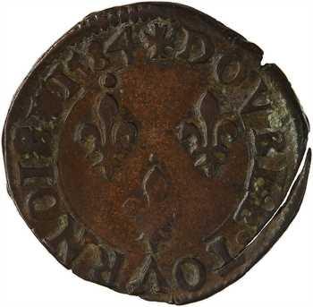 Henri III, double tournois 2e type, 1584 Nantes