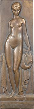 Turin (P.) : la Baigneuse, plaquette uniface, s.d. (1948) Paris