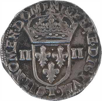Henri IV, quart d'écu, croix feuillue de face, 1605 Nantes