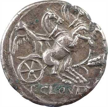 Cloulia, denier, Rome, 128 av. J.-C.